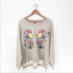 Chelsea & Theodore Floral Embroidered Sweatshirt
